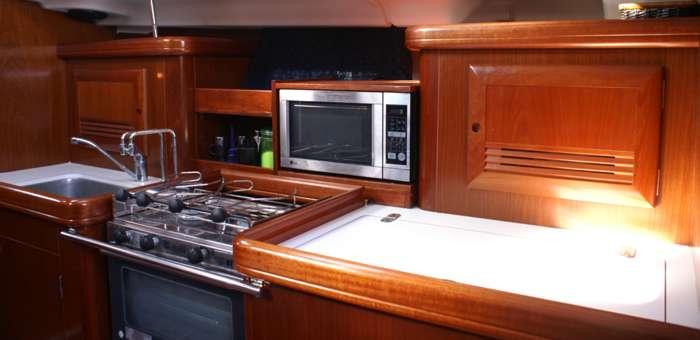 cocina del barco
